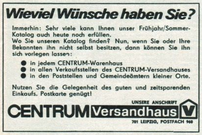 Centrum-Versandhaus 1972
