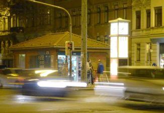 Kiosk an der Kreuzung von Karl-Liebknecht- und Kurt-Eisner-Straße