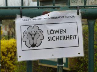 An einer Gartensparte in Lindenau
