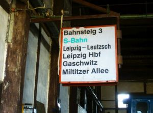 Altes S-Bahn-Schild
