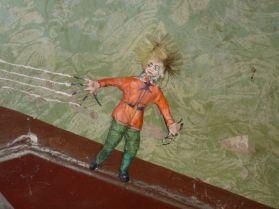 Struwwelpeter im Treppenhaus