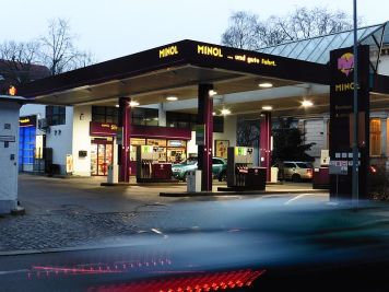 Minol-Tankstelle in der Lützner Straße (2016)