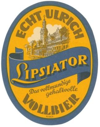 Echt Ulrich Lipsiator (mit Altem Rathaus)