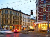 Kreuzung von Karl-Heine- und Zschocherscher Straße