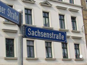 Die Sachsenstraße in Paunsdorf