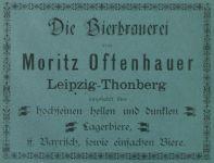 1891: Anzeige im Adressbuch für die Ostvororte Leipzigs