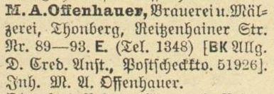 1920: Eintrag im Adressbuch