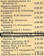 1957: Eintrag im Telefonbuch