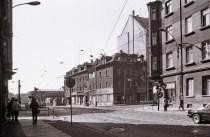 Kreuzung Hermann-Liebmann- / Ernst-Thälmann-Straße 1989 (Foto: Harald Stein, Wortblende)