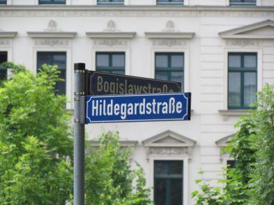 Hildegard- / Ecke Bogislawstraße, 2015 (Hintergrund: Hermann-Liebmann-Straße)