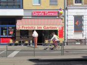 Freisitz-Hinweis am Eiscafé Florenz