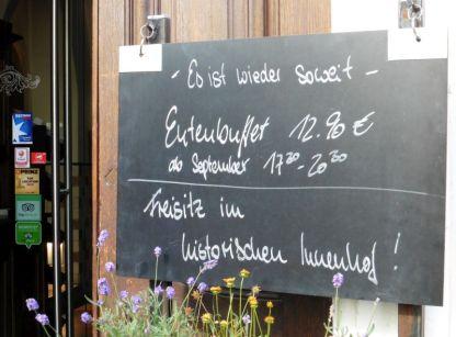 Freisitz-Hinweis in der Katharinenstraße