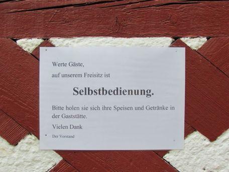 Freisitz (!)