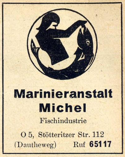 Anzeige im Branchen-Fernsprechbuch 1957