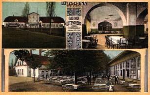 Gasthof Lützschena auf einer historischen Postkarte (Quelle: Horst Pawlitzky)
