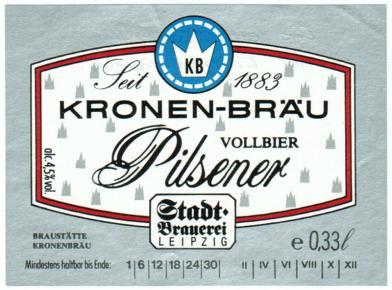 Kronen-Bräu Pilsener, 1990er Jahre