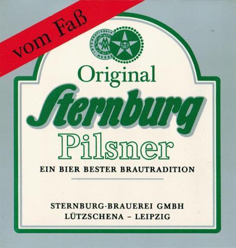 Sternburg Pilsner, 1990er Jahre (noch aus Lützschena)