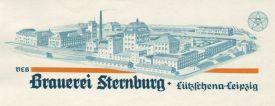 Sternburg-Briefbogen, 1950er Jahre (?)