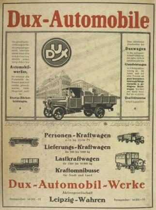 Dux 1920 im Leipziger Adressbuch
