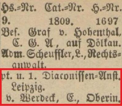 1895: Weststraße 9, Eintrag im Leipziger Adressbuch