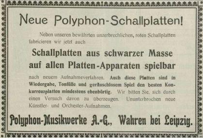 Polyphon-Anzeige 1905, Phonographische Zeitschrift