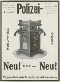 Polyphon-Anzeige 1908, Phonographische Zeitschrift