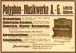 Polyphon-Anzeige 1910, Phonographische Zeitschrift