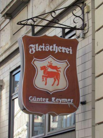 Einst Fleischerei Günter Zeymer, jetzt Café Fleischerei