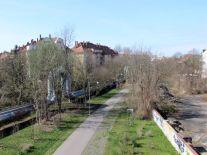 Blick auf die Anger-Crottendorfer Bahnschneise
