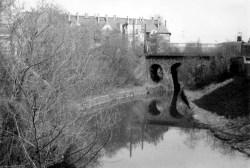 Karl-Heine-Kanal, Blick von der Saalfelder Straße, 1986