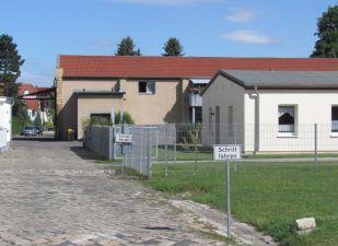 Helles Gebäude: Ehemalige Senffabrik in Mölkau
