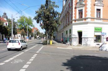 An der Endstelle in Connewitz
