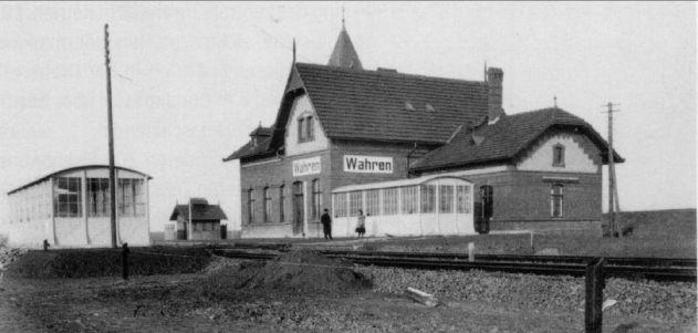 Bahnhof Wahren 1920