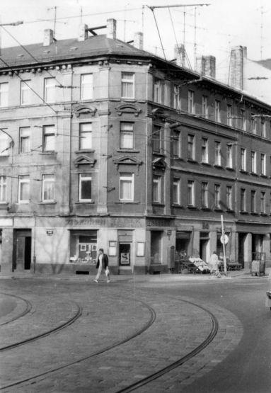Lützner / Ecke Odermannstraße in den 1980ern