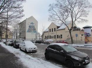 Vorm WISAG-Giebel stand das Haus Schönefelder Straße 6