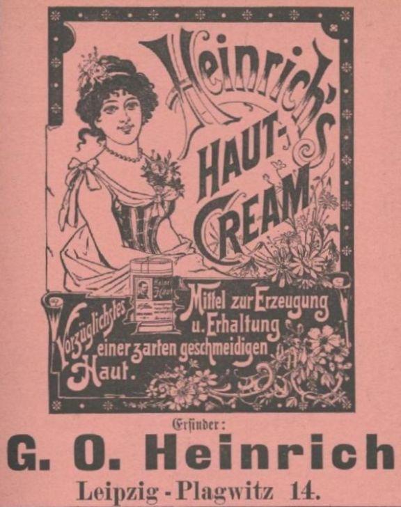 Marien-Drogerie, Anzeige von 1898