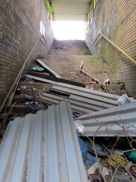 Diese Treppe ist gesperrt