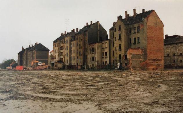 Prager Straße 1992, Höhe Kreuzung Riebeckstraße (Foto: Norbert Lotz)