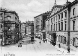 Wintergartenstraße 13 (3.v.re.) auf einer Postkarte um 1897/1910