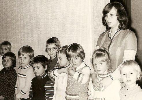 1973 im Kindergarten, vielleicht war es auch 1974