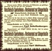 Anzeige in der LVZ vom 25. März 1905