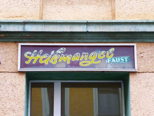 Heißmangel in Lindenau