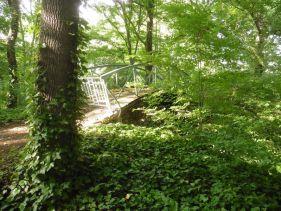 Gesperrte Brücke im Robert-Koch-Park