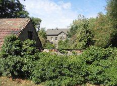 Blick vom alten Friedhof aufs Pfarrhaus