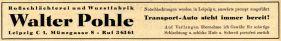 Walter Pohle im Branchenfernsprechbuch von 1950