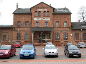 Bahnhof Knauthain im April 2012