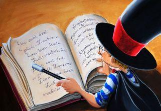 """Lychatz-Buch """"Der verhexte Zirkus"""", Illustration: Thomas Leibe"""