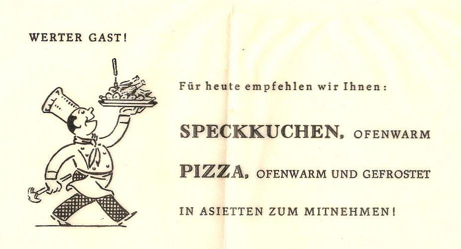 Wo war die Pizzeria