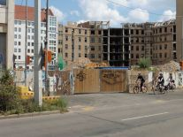 Blick von der Gerberstraße im August 2019