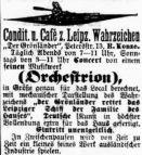 Anzeige im Leipziger Tageblatt vom 8. Februar 1880